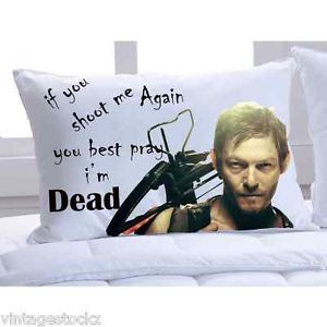 ... Walking Dead Norman Reedus Quotes Pillow Cases Colors Standard Size