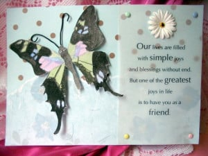 Friendship Butterfly Cards, Friends are like Butterflies