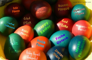 ... when they went on the egg hunt this year they found these special eggs