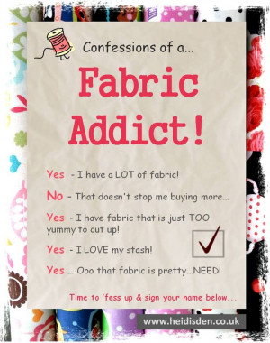 Confessions Of A Fabric Addict - Sewing Humour