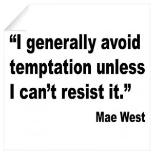 ... > Wall Art > Wall Decals > Mae West Temptation Quote Wall Decal