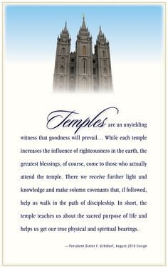 ... blessings we receive when attending the temple! I get chills reading