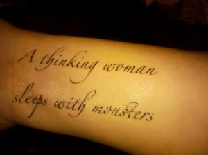 ... the place for that tattoo for me. But, I still really like the quote
