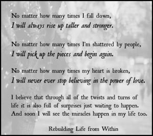 How Begin Rebuilding Life...