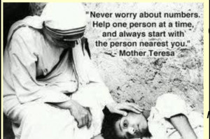 Serving Others Quotes Mother Teresa Mother teresa- helping others. via ...