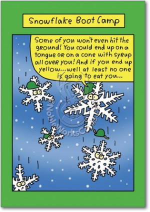 Snowflake Boot Camp Unique Inappropriate Humor Merry Christmas Card ...