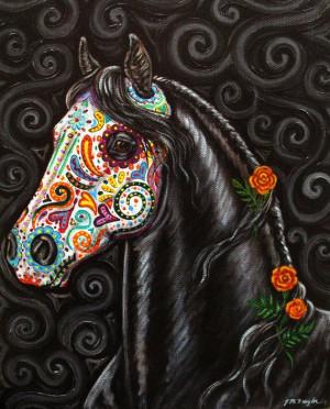 ... .etsy.com/listing/78316808/day-of-the-dead-horse-art-print-sugar Like
