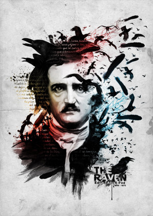 Edgar Allan Poe -The Raven by ~ Inexterno13