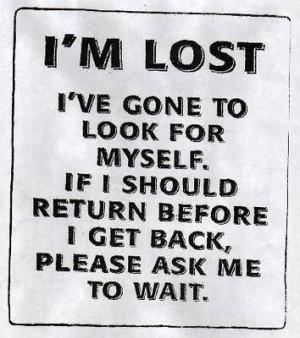 Feeling a bit lost.....
