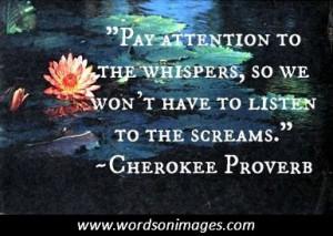 Cherokee quote