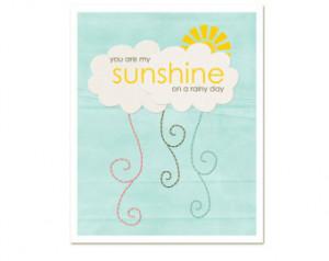 Sunshine on a Rainy Day - Yellow Spring Sunshine Quote Cloud Rain ...