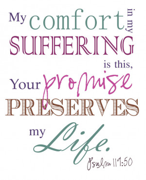 Bible Verses Psalm 119:50 My Comfort Scripture Picture