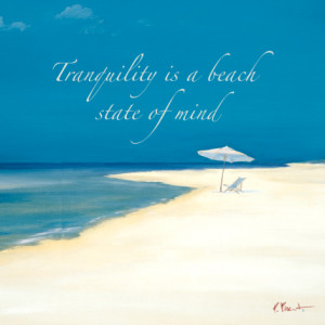 tranquility beach mind state print by Paul Brent
