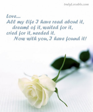 ... Love Quotes: With You I Have Found Love, First Love Cards,Quotes