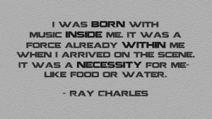 Music Quotes Wallpaper 1366x768 Music, Quotes, Ray, Charles