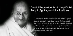 Gandhi Endorses British War