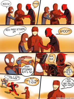 ... spider-man Daredevil Matt Murdock team red wolwerine piter parker