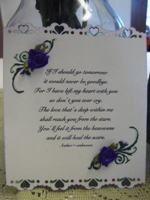 is a part of in memory of deceased ...