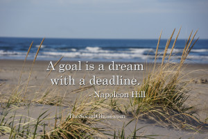 goal is a dream with a deadline – Napoleon Hill