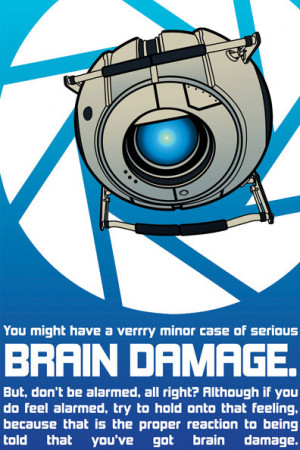 Portal 2 Quotes 12x18 inch portal 2 wheatley