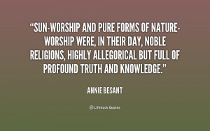 Quotes About Sun Worship