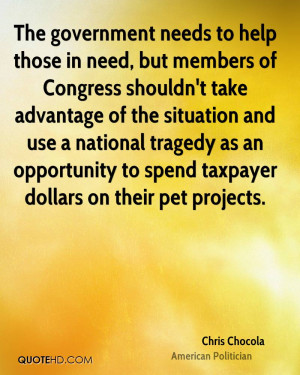 The government needs to help those in need, but members of Congress ...