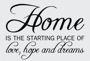 Catalog > Home Love Hope, Home Wall Art Decal Opt. 2