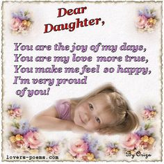 for my daughter | ... daughter, birthday quotes son, birthday poem for ...