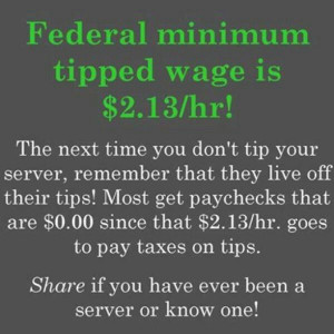 Please tip your server :)