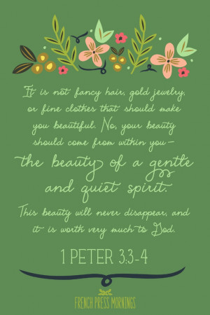 1Peter3:3-4 Free 4x6 Printable on this website!! Great for memorizing ...