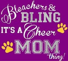 Cheer mom Quotes | ... and Bling Shirt, Cheer Mom, Football Mom ...