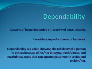 Dependability Quotes Dependability