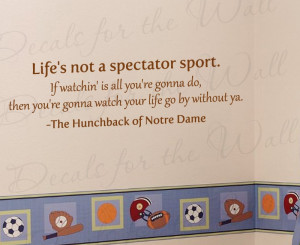 Hunchback of Notre Dame Disney Wall Decal Quote