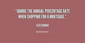 Ignore the annual percentage rate when shopping for a mortgage.""