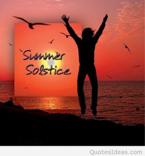 Summer solstice quote message
