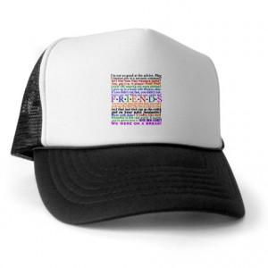 Chandler Gifts > Chandler Hats & Caps > Friends TV Quotes Trucker Hat