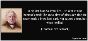 Dark Quotes About Love Thomas love peacock quotes