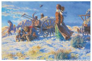 Handcart Pioneers - from LDS Gospel Art Kit