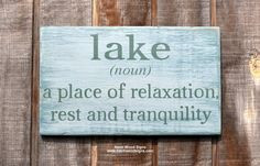 .com Lake House, Lake Decor, Lake Life, Lake Noun Sign, The Lake ...