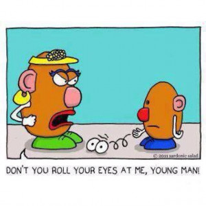 Mrs Potato Head uses figurative language