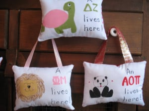 The last new design sorority pillow order was for Delta Alpha Sigma.