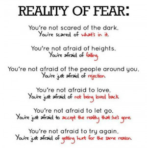 Reality of Fear: How Do You Face Your Own Fear?