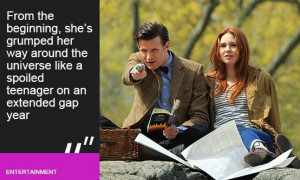 Dr Who and Amy Pond