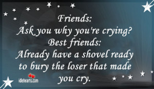 Friends Ask Why You're Crying, Bestfriends Already…