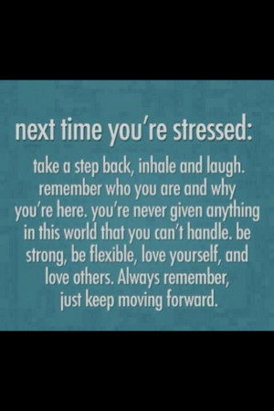 Don't stress!!!