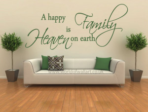 Family Heaven On Earth Wall Decal