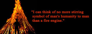 can think of no more stirring symbol of man's humanity to man than a ...