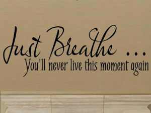 Just Breathe Quotes Words, just breathe you'll