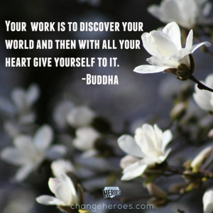 Beautiful Buddha quote about living with purpose