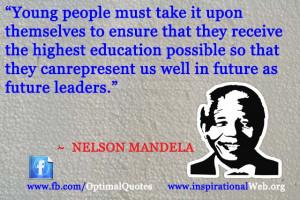 Nelson Mandela Quotes on Education